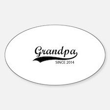 Grandpa since 2014 Decal
