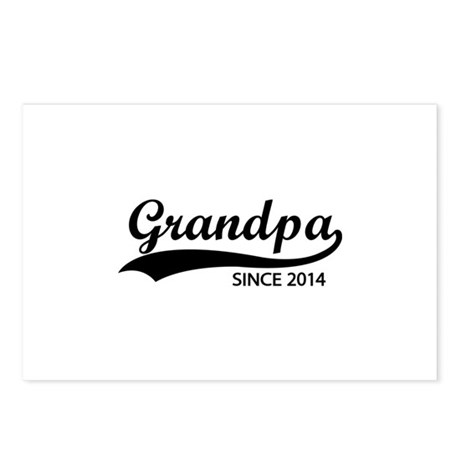 Grandpa since 2014 Postcards (Package of 8)