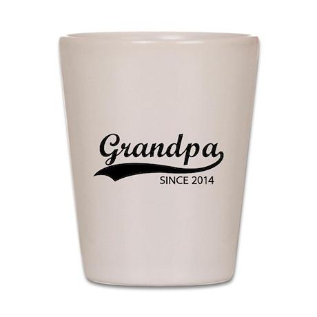 Grandpa since 2014 Shot Glass