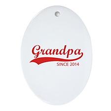 Grandpa since 2014 Ornament (Oval)