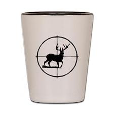 deer through scope Shot Glass