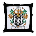 Salmon Coat of Arms Throw Pillow