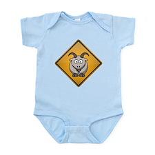 Goat Warning Sign Infant Bodysuit