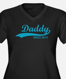 Daddy since 2013 Women's Plus Size V-Neck Dark T-S
