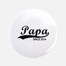 "Papa since 2014 3.5"" Button (100 pack)"