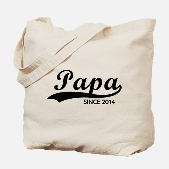 Papa since 2014 Tote Bag