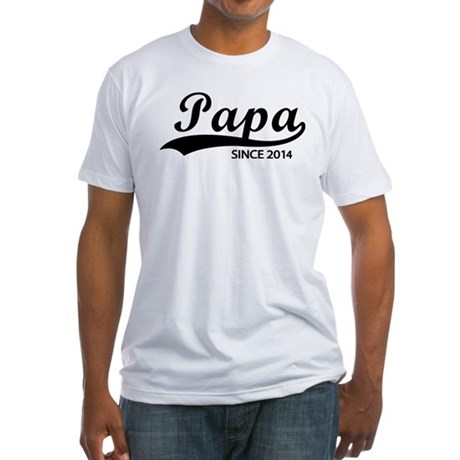 Papa since 2014 Fitted T-Shirt