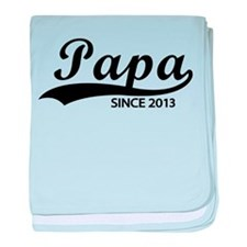 Papa since 2013 baby blanket
