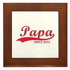 Papa since 2013 Framed Tile