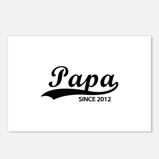 Papa since 2012 Postcards (Package of 8)