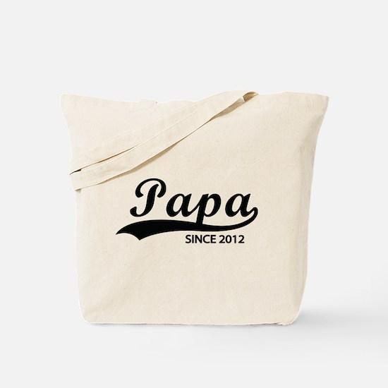 Papa since 2012 Tote Bag