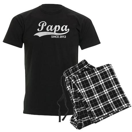 Papa since 2012 Men's Dark Pajamas