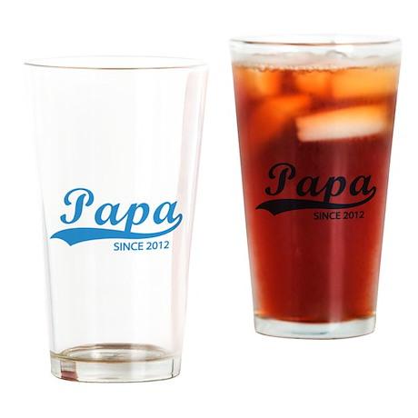 Papa since 2012 Drinking Glass