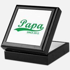 Papa since 2012 Keepsake Box
