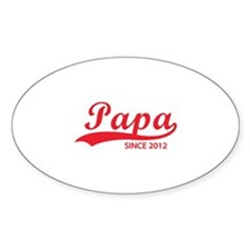 Papa since 2012 Decal