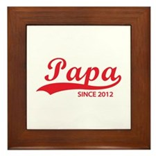Papa since 2012 Framed Tile