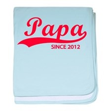Papa since 2012 baby blanket