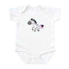 Cute Pink zebra baby Infant Bodysuit