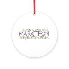 Marathon- The Pride is Forever Ornament (Round)