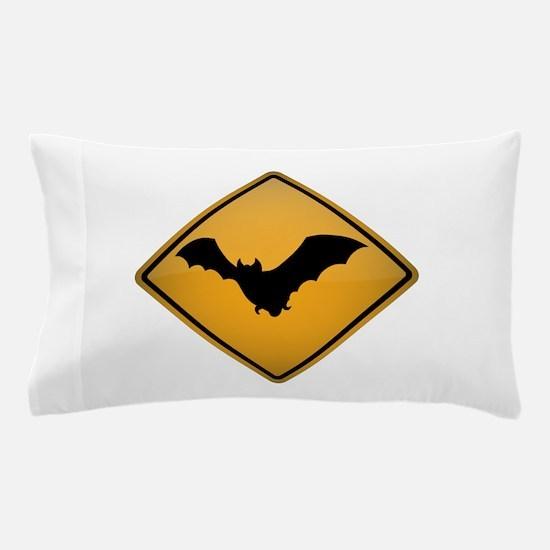 Bat Warning Sign Pillow Case