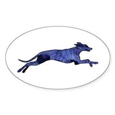 Greyhound Silhouette Fractal Decal