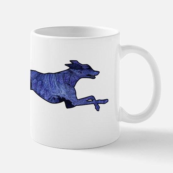 Greyhound Silhouette Fractal Mug
