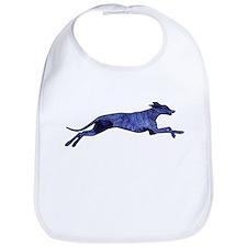 Greyhound Silhouette Fractal Bib
