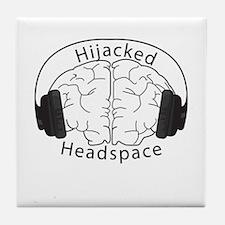 Brain Phones Tile Coaster