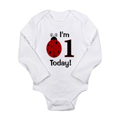 ladybug_im1today.png Long Sleeve Infant Bodysuit