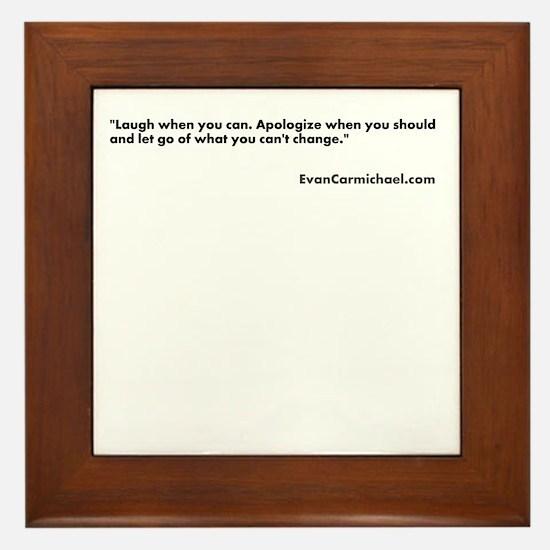Motivational Framed Tile