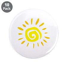 """Sun 3.5"""" Button (10 pack)"""