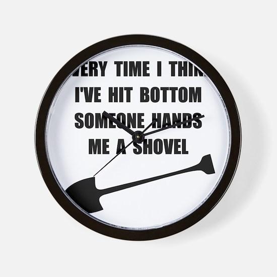 Bottom Shovel Wall Clock