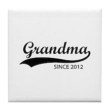Grandma since 2012 Tile Coaster