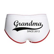 Grandma since 2012 Women's Boy Brief