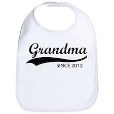 Grandma since 2012 Bib
