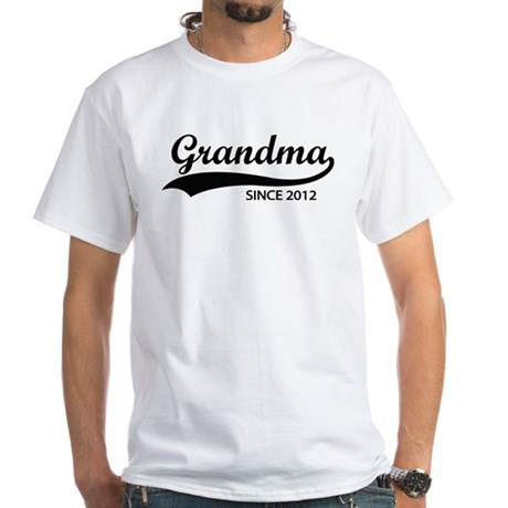 Grandma since 2012 White T-Shirt
