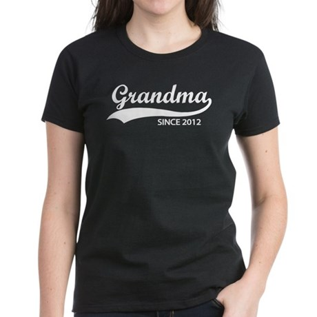 Grandma since 2012 Women's Dark T-Shirt