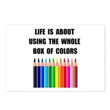 Box Of Colors Postcards (Package of 8)