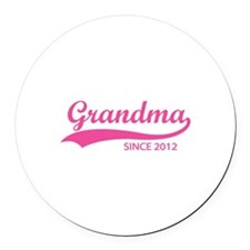 Grandma since 2012 Round Car Magnet