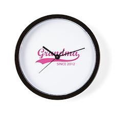 Grandma since 2012 Wall Clock
