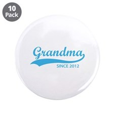 "Grandma since 2012 3.5"" Button (10 pack)"