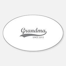 Grandma since 2012 Decal