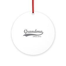 Grandma since 2012 Ornament (Round)
