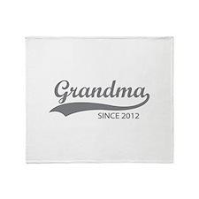 Grandma since 2012 Throw Blanket