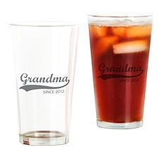 Grandma since 2012 Drinking Glass