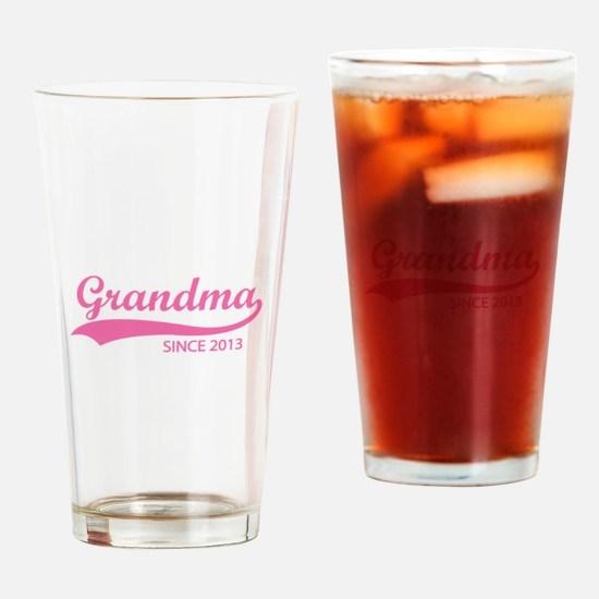 Grandma since 2013 Drinking Glass