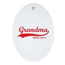 Grandma since 2013 Ornament (Oval)