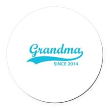 Grandma since 2014 Round Car Magnet