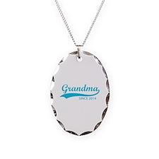 Grandma since 2014 Necklace Oval Charm