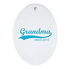 Grandma since 2014 Ornament (Oval)